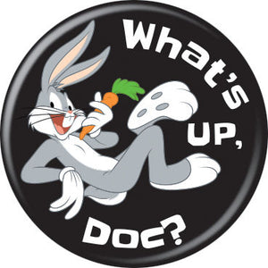 Looney Tunes - What's Up Doc? on Black Button