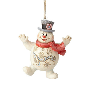 Frosty Wearing Scarf Jim Shore Ornament