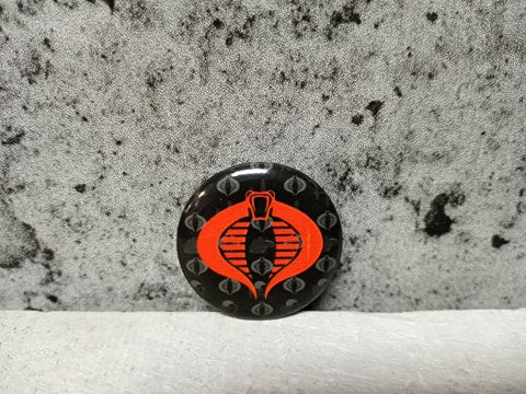 Gi Joe Cobra Red Logo Button