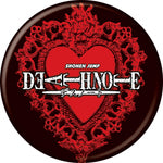 Deathnote - Black & Red Logo Button