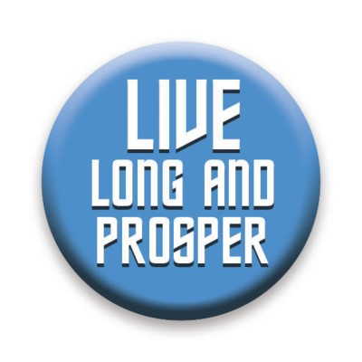 Star Trek Live Long & Prosper Button