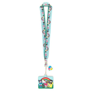 Loungefly - Sanrio Rainbow Group Lanyard with Cardholder