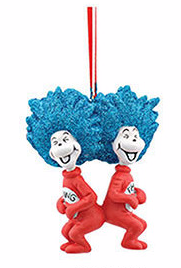 Dr Seuss Thing 1 & Thing 2 Laughing Ornament
