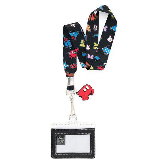Loungefly - Mickey Mouse Group Lanyard with Cardholder