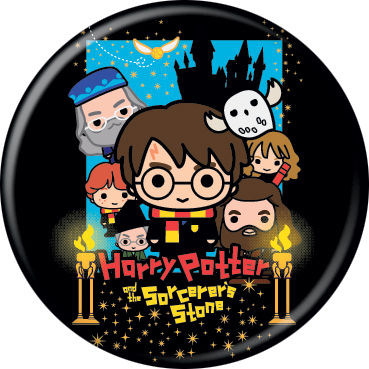 Harry Potter - Chibi Sorcerer's Stone Button