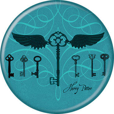 Harry Potter - Keys On Blue Button