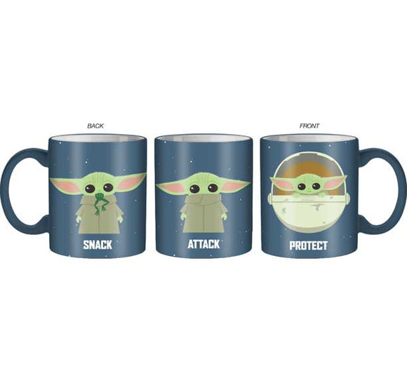 Star Wars - Baby Yoda Snack Protect Attack 14oz Mug