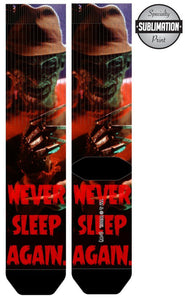 Nightmare on Elm Street Sublimation Socks