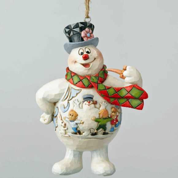 Frosty Kids Scene Jim Shore Ornament