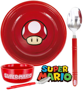 Super Mario - Mushroom Bowl & Spoon Set