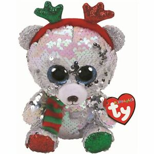 Flippables Mistletoe Bear With Antlers Small