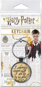 Harry Potter - Solemnly Swear Round Keychain