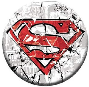 Superman - Cracked Logo Button