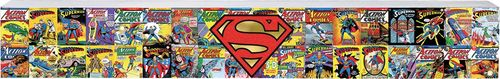 Superman Comics Long Wood Sign