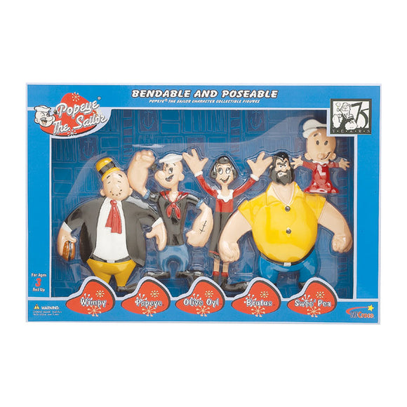 Popeye Family 5Pc Bendable Set