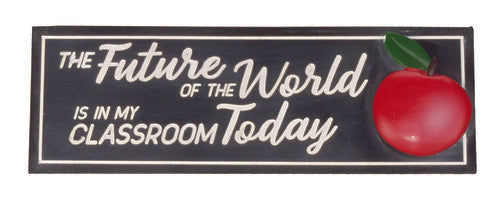 Teacher Future Of The World Desk Sign