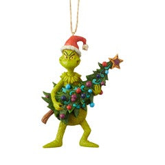 Grinch Stealing Tree Shore Ornament