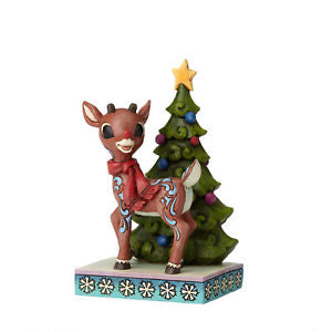 Rudolph with Christmas Tree Jim Shore