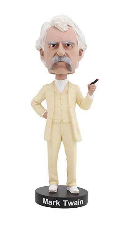 Mark Twain hand painted Bobblehead