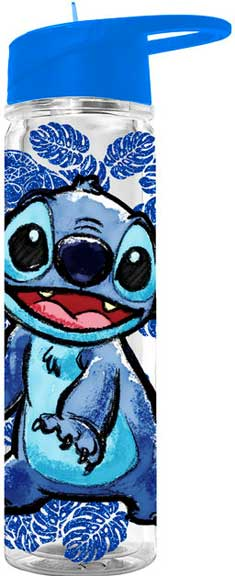 Lilo & Stitch - Floral Glitter 18oz Water Bottle