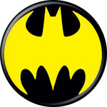 Batman - Yellow Logo on Black Button