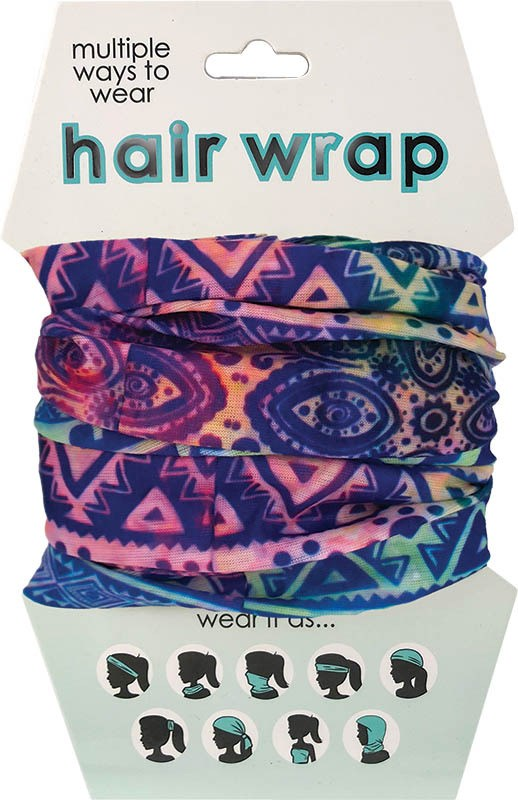 Pastel Tribal Print Hair & Face Wrap