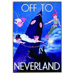 Peter Pan - Off To Neverland 13x19 Wood Wall Art