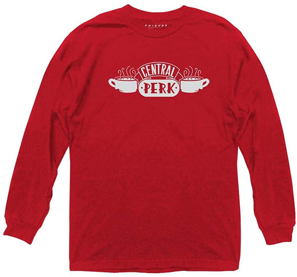 Friends - Central Perk Red Long Sleeve Tee