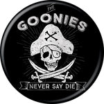 Goonies - Never Say Die Black Button