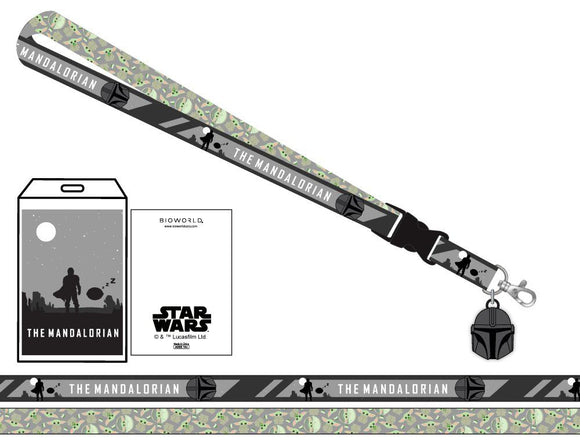 Star Wars - Mandalorian The Child Grey Lanyard