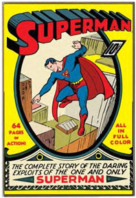 Superman - Comic Cover 13x19 Wooden Wall Art