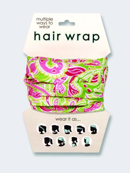 Pink & Green Paisley Hair & Face Wrap
