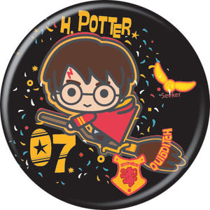 Harry Potter - Chibi Harry On Broomstick Button