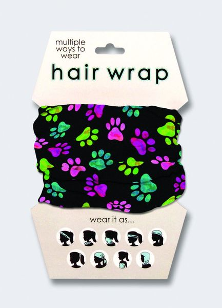 Paw Print Hair Wrap
