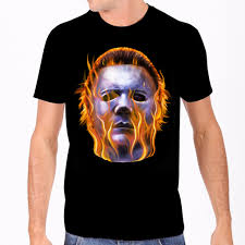 Halloween - Michael Myers Flame Head Tee