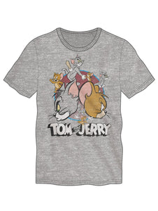 Tom & Jerry Grey Tee