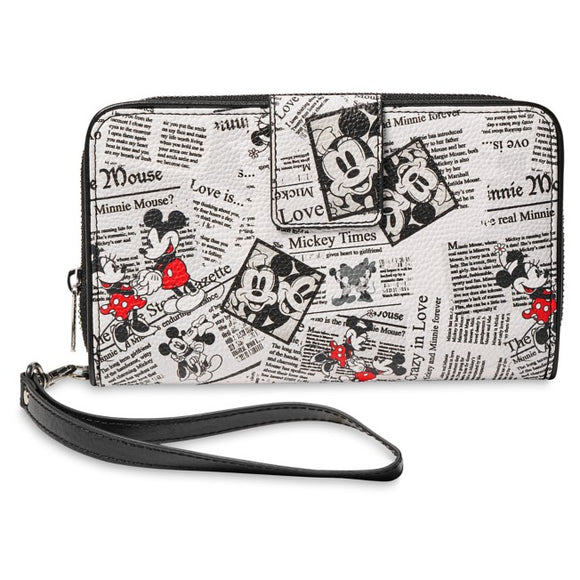 Mickey Mouse Newspaper Print Wallet