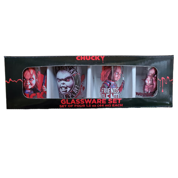 Chucky 4pc Shot Glass Set