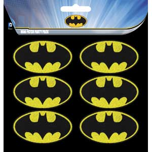 "Batman 6Pc 2"" Logo Patches"