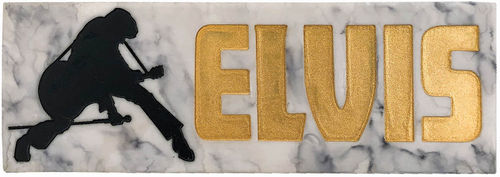 Elvis Gold Name Desk Sign