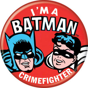 Batman - I'm A Batman Crimefighter Button