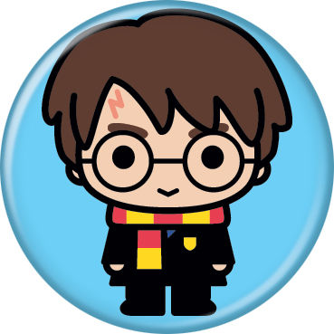 Harry Potter - Chibi Harry On Blue Button
