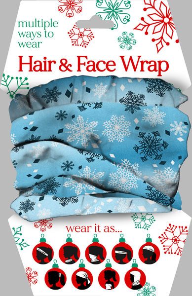 Snowflake Hair & Face Wrap