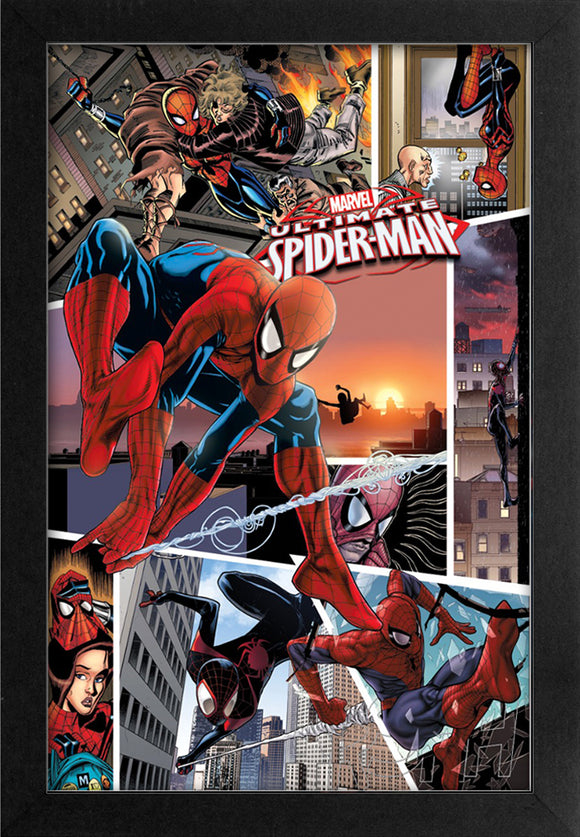 Spider-Man - Ultimate Collage 11x17 Framed Print