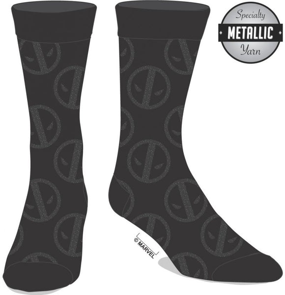 Deadpool - Black Logo Socks