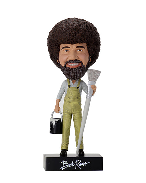 Bob Ross - Paint Brush & Paint Can Bobblehead
