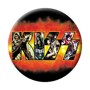 KISS - Fire Logo Button