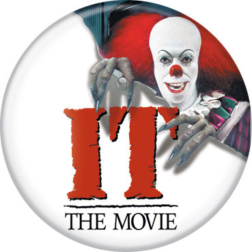 It 1990 Pennywise & Logo Button