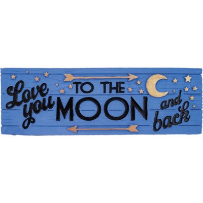 Love You To The Moon & Back Desk Sign
