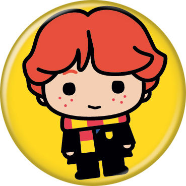 Harry Potter - Chibi Ron On Yellow Button